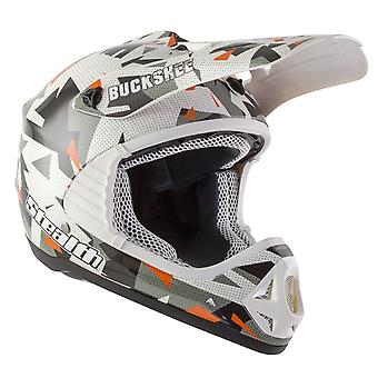 Stealth HD204 Buckshee Kids MX Helmet - Grey