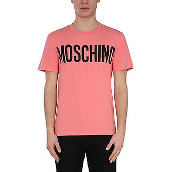 Moschino 072920391245 Heren's Pink Cotton T-shirt