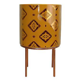 Kasbah Design Ceramic Planter, Yellow