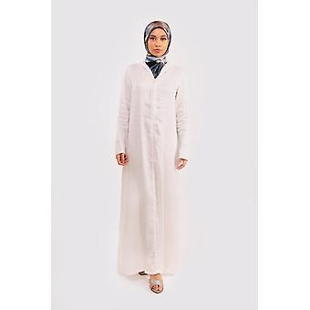 Djellaba alya hooded maxi dress kaftan in white