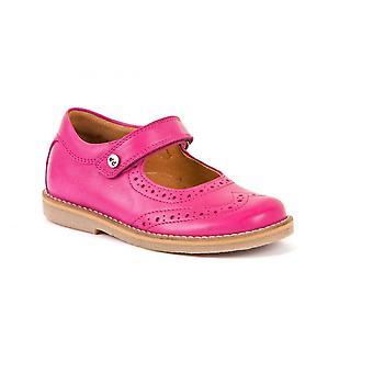 FRODDO Læder Mary Jane sko i Fuchsia Pink
