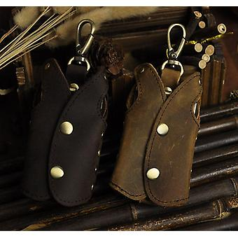 Original Genuine Leather Men Quality Fashion Key Ring Case Holder