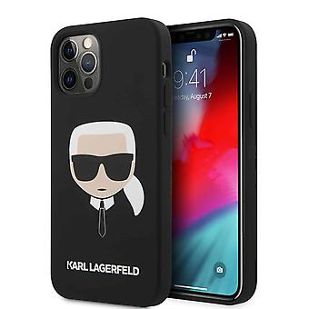 KARL LAGERGELD Karl Siliconen Backcase Hoesje iPhone 12 Pro Max - Roze