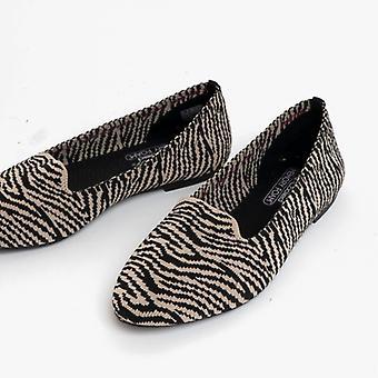 Skechers Cleo Neulottu Kitty Naisten Slip On Shoes Natural Black
