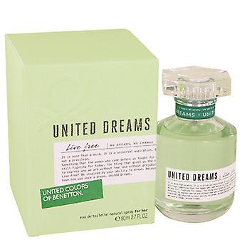 Benetton United Dreams Live Free Eau de Toilette SpraySpray 80ml/2.7oz
