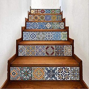 DIY Keramiska kakel mönster trappgolv klistermärke 6 st