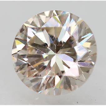 Certified 0.26 Carat K VVS2 Round Brilliant Enhanced Natural Diamond 4.1mm 3EX