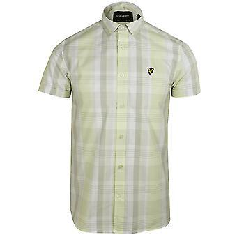 Lyle & scott men's lemon checked shirt