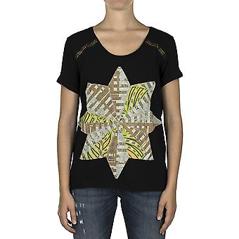 Custo Barcelona Women T-shirt Luzio Star Black Multicolor