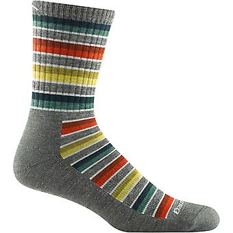 Darn Tough Mens Decade Stripe Micro Crew Midweight Cushion Sock