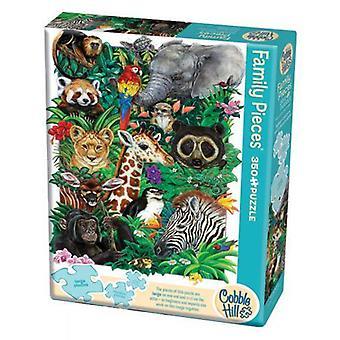 Cobble hill puzzle - safari babies - 350 pc