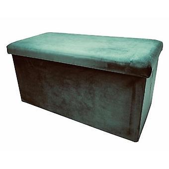 stool foldable 76 x 38 x 38 cm velvet green