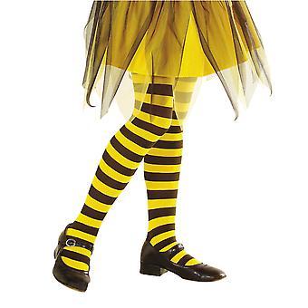 Collants rayés jaunes et noirs enfant
