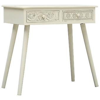 vidaXL console 2 tiroirs sculpture gris 80x40x77,8 cm bois