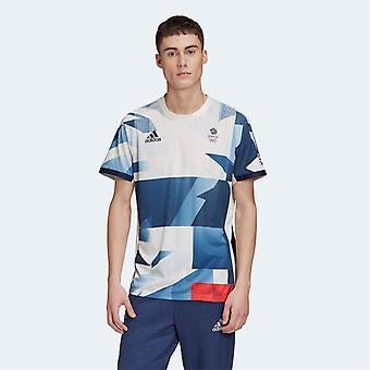adidas Team GB HEAT. RDY Tenis T Shirt Mężczyźni