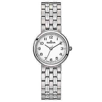 Dugena analoge horloge quartz vrouw met roestvrij staal band 4460722