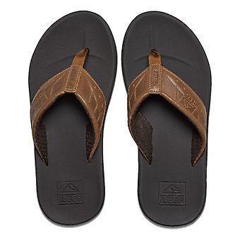Reef Phantom Leather Sandals in Brown/Tan