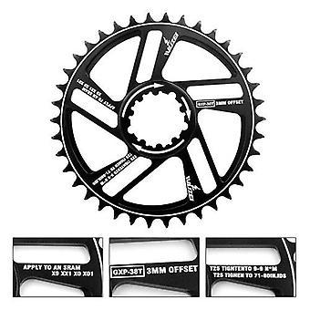 30/32/34/36/38/40/42T Mountainbike Kettingwiel Fiets Crank Bike Circle Crankset Single Plate GXP