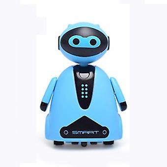 Indukční elektrický robot s LED black line novinkou Track Vehicle Toys for Children  RC robot (modrý)