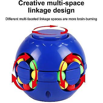 Blue fingertip burger cube puzzle gyroscope magic bean toy magic bean children decompression toy cai1577