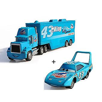 New Racer Metal Pixar Car Trucks And Cars Lighting Uncle Mike The King Alloy Toy Model ES11488