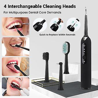 Electric Sonic Dental Scaler Tooth Stains Tartar Tool  Replaceable Brush Head Oral Irrigators