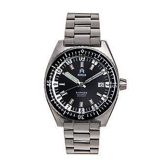Shield Nitrox Bracelet Watch w/Date - Black