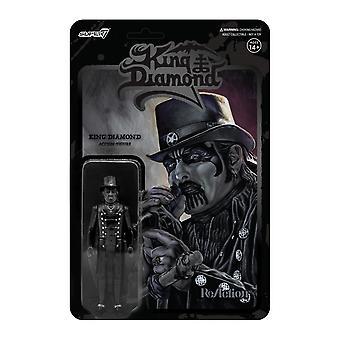Top Hat Midnight Black Metal King Diamond ReAction Figure