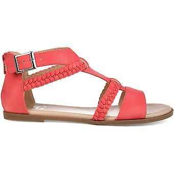 Brinley Co Comfort Womens T-Strap Braided Sandal