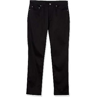 Märke - Knäppt ner mäns slim-fit 5-pocket easy care stretch Twill Chino Pant