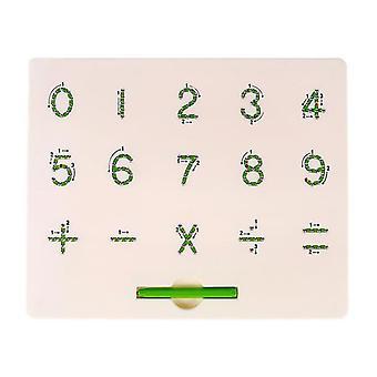 Numéro alphabet boule d'acier plastique planche à dessin magnétique jouet pour enfants az12370