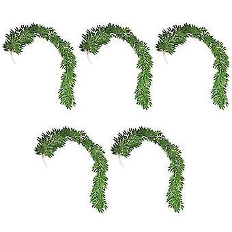 5pcs, Simulation Plant Eucalyptus Round Leaf Rattan, Willow Leaf Decorative Vine(S1)