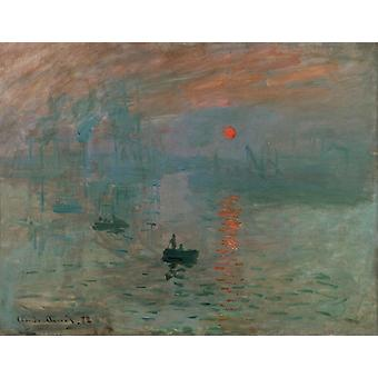 Impression, Sunrise, Claude Monet Art Reproduction.impressionism Modern Hd Art Print Poster, Canvas Prints Wall Art For Office Home Decor Pictures