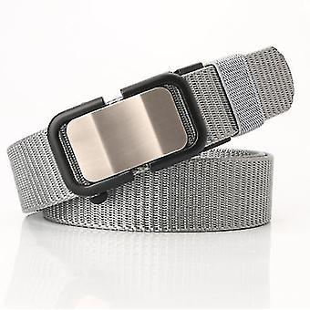 Nový nylonový pásek s automatickou přezkou, pánský pásek, ležérní, univerzální kalhoty, trendy a