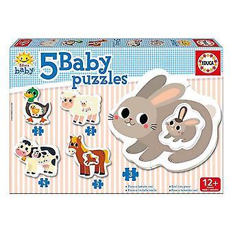 5-Puzzle Set Educa Baby Farm