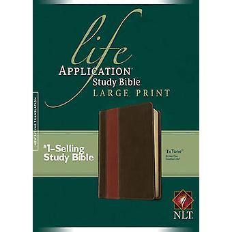 NLT الحياة تطبيق دراسة الكتاب المقدس طباعة كبيرة BrownTan بواسطة تحريرها من قبل Tyndale
