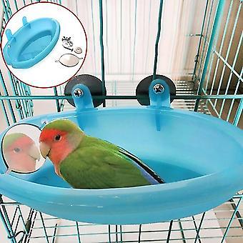 Pet Bird Kúpeľ klietka Basin so zrkadlom