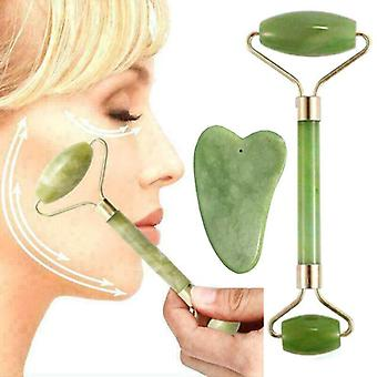 Jade Face Massage Roller Facial Eye Neck Care Anti Ageing Therapy Beauty Tools