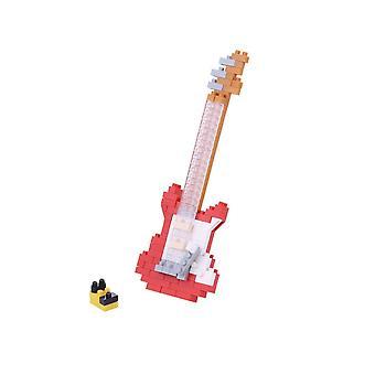 Guitarra eléctrica roja (Nanoblocks) Figura