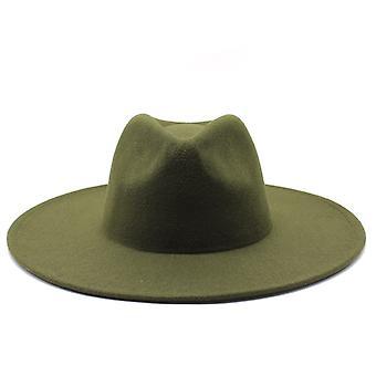Classique Wide Brim Fedora Hat Noir blanc Wool Hats Hommes Femmes Crushable Winter Hat