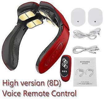 8D (8D) מעסה דופק חשמלי בגב ובצוואר (אדום)