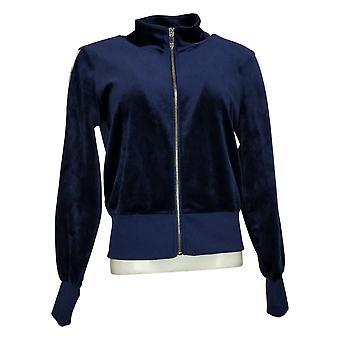 Skinnygirl Women's Light Weight Zip-Up Jacket Blue 681086