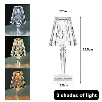 Rechargeable Night Light Usb Crystal Projector Desk Lamp Led Table Lamp Room Decor Nights Lamp Lights For Home Xmas Decoration
