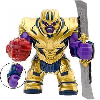 7cm End Spiel Rüstung Thano mit Infinity Gauntlet Schwert Große Größe Figuren Mini Puppen Bausteine Spielzeug für Kinder Geschenk Halloween