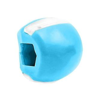 Massagers 2pcs blue silicone facial muscle chew device  jaw and neck masseter muscle exercise ball az7018