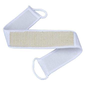 Bath brushes white exfoliating wash scrubber back strap loofah sponge spa shower brush body cleaner