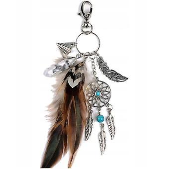 Mici handmade Pene Dream Catcher keychain Keyring