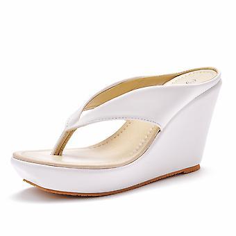 kvinners åpen tå pustende flip flops mote høy hæl sandaler