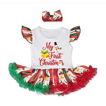 Costum de Craciun Romper Rochie cu bentiță Toddler Princess Xmas Fancy Dress