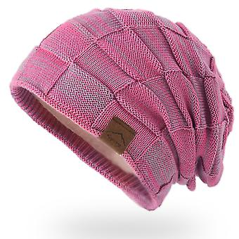 כובע חם וקשמיר צבע מעורב צמר סריג כובע כובע אופנה משיכה כובע